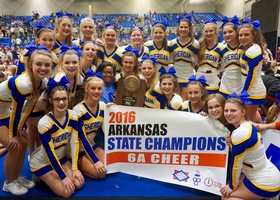 SHS Cheerleaders are Back-to-Back State Champions