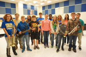 ​Sixteen SJHS Students Earn Their Way to the ASBOA All Region Jazz Band