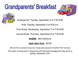 Coming Soon: SES Grandparents' Breakfast