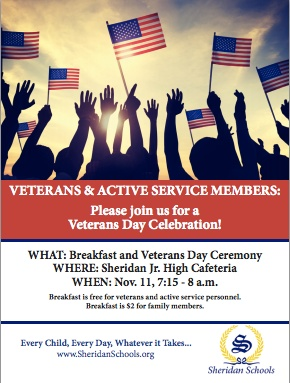 Breakfast and Veterans Day Ceremony