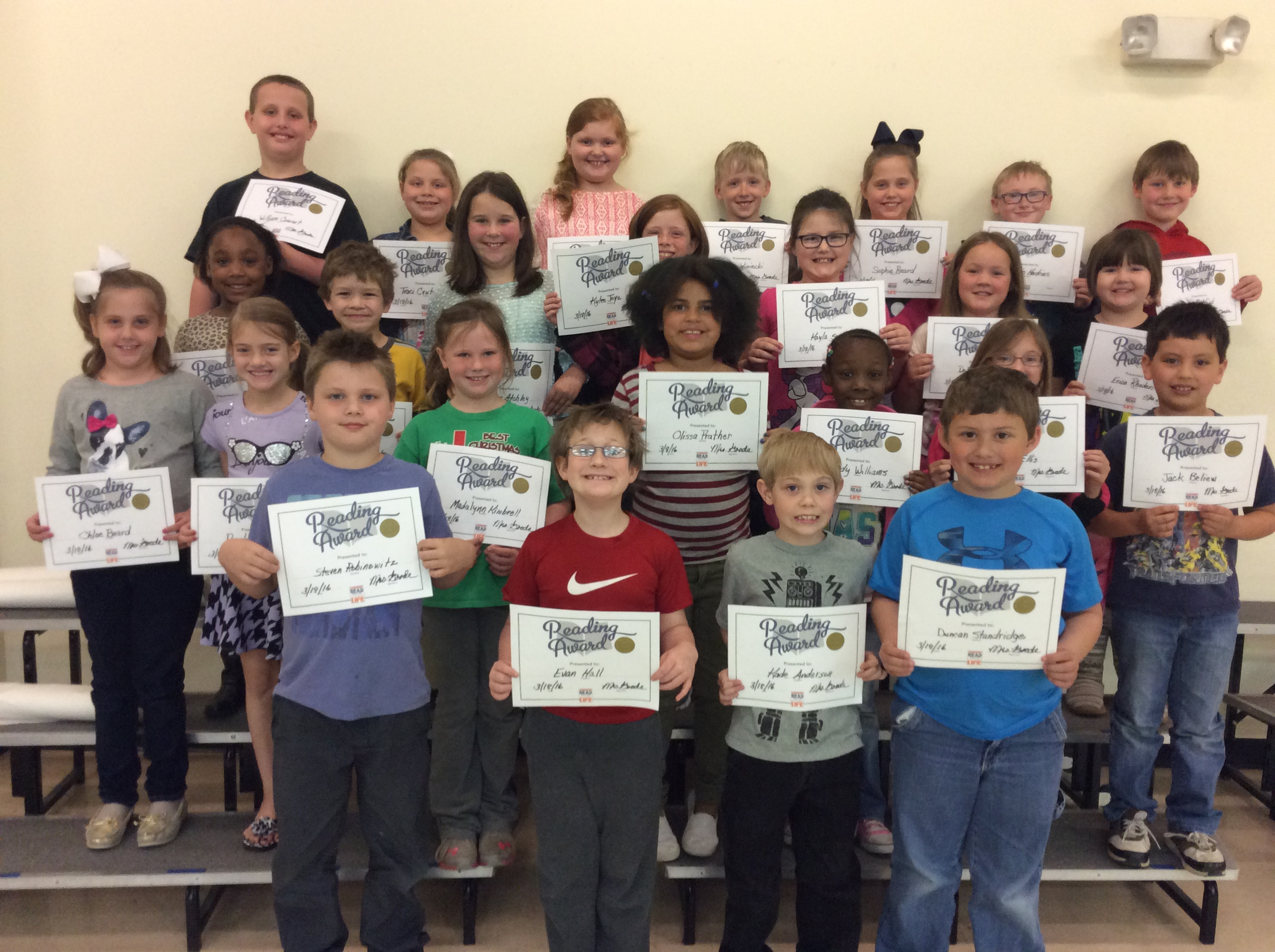 ​Sheridan Elementary School Students Achieve Reading Goals