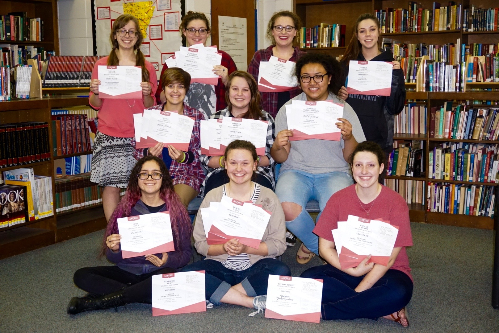SHS Yearbook Students Win an Impressive 16 Awards at State Conference