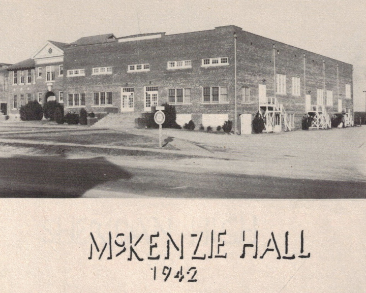 Old Picture of McKenzie Hall in 1942