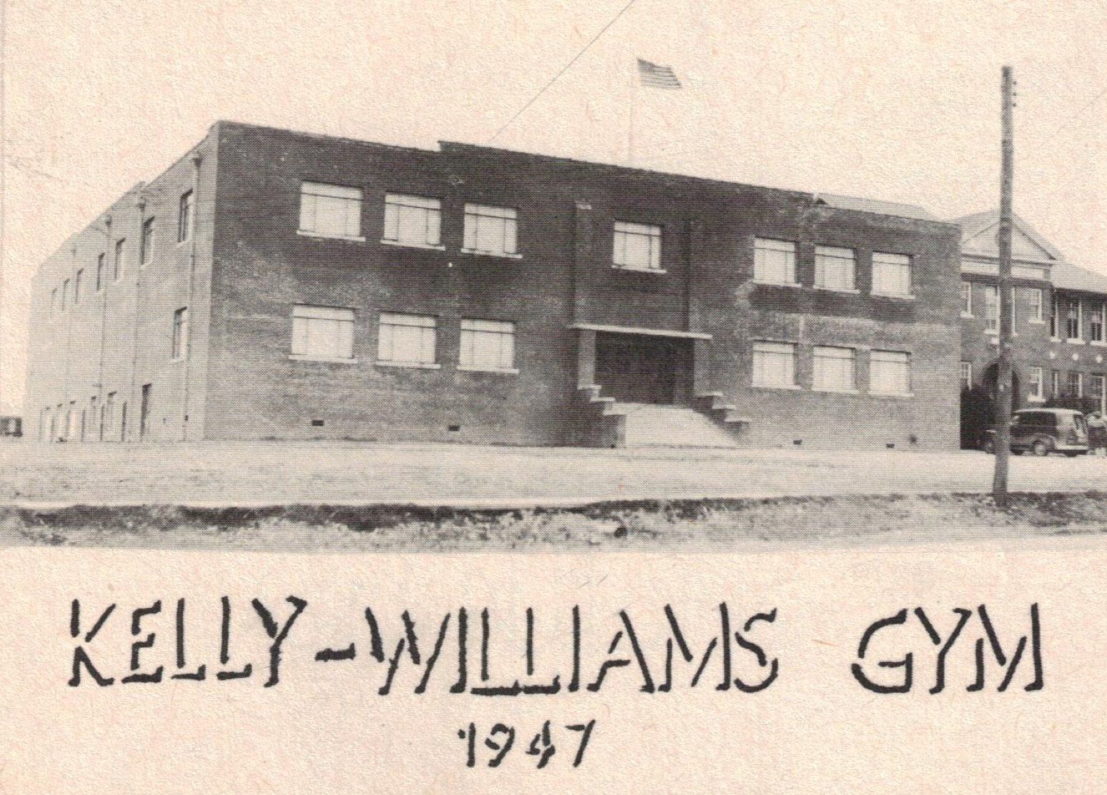 Old Image of Kelly-Williams Gym in 1947