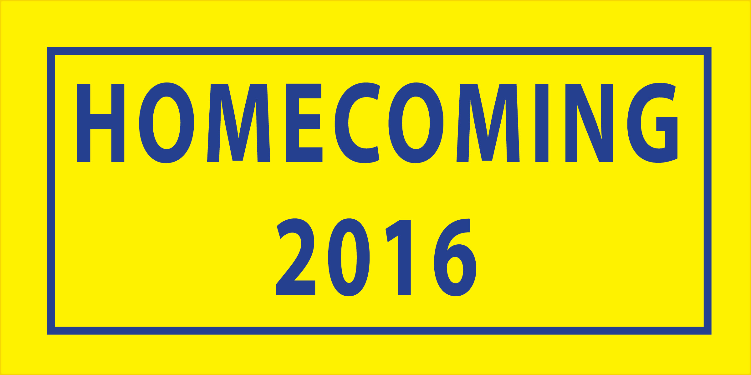 Graphic showing Homecoming 2016