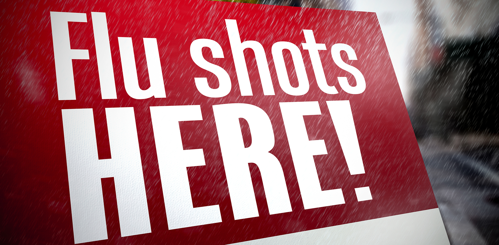 Graphic of sign advertising flu shots